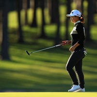 練習日は重点的にパター練習を行った 2019年 樋口久子 三菱電機レディスゴルフトーナメント 初日 吉川桃