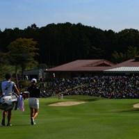 Hole9 par5  for the green 2019年 樋口久子 三菱電機レディスゴルフトーナメント 2日目 小祝さくら