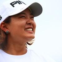 鈴木愛は笑顔でインタビューに答える 2019年 樋口久子 三菱電機レディスゴルフトーナメント 最終日 鈴木愛