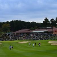 Hole9 par5  green 2019年 樋口久子 三菱電機レディスゴルフトーナメント 最終日 三菱電機レディース
