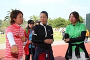 2010年 ヨコハマタイヤゴルフトーナメントPRGRレディスカップ最終日 森田理香子、服部真夕、若林舞衣子