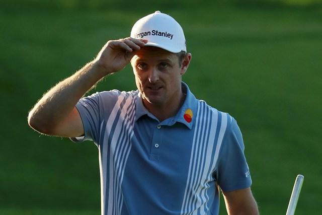 3連覇へ首位と2打差の好位置でスタートしたジャスティン・ローズ(Warren Little/Getty Images)