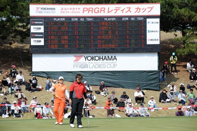 2010年 ヨコハマタイヤゴルフトーナメントPRGRレディスカップ最終日 ウェイ・ユンジェ、朴仁妃 ウェイ・ユンジェ、朴仁妃