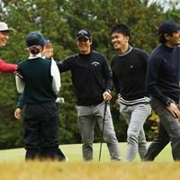 石川遼(中央)は新井貴浩(左)、武井壮(右から2人目)、鈴木啓太とプレーした 2019年 三井住友VISA太平洋マスターズ 事前 石川遼