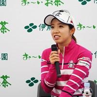 ツアーから退く意向を表明した大江香織 2019年 伊藤園レディスゴルフトーナメント 事前 大江香織