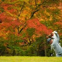 ゲンちゃん、紅葉が似合うねぇ。 2019年 三井住友VISA太平洋マスターズ 2日目 時松隆光
