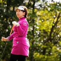 秋のセットアップコーディネート 2019年 伊藤園レディスゴルフトーナメント 初日 吉田弓美子