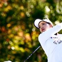 今大会限りでの引退を表明した大江香織が首位タイで最終日へ 2019年 伊藤園レディスゴルフトーナメント 2日目 大江香織
