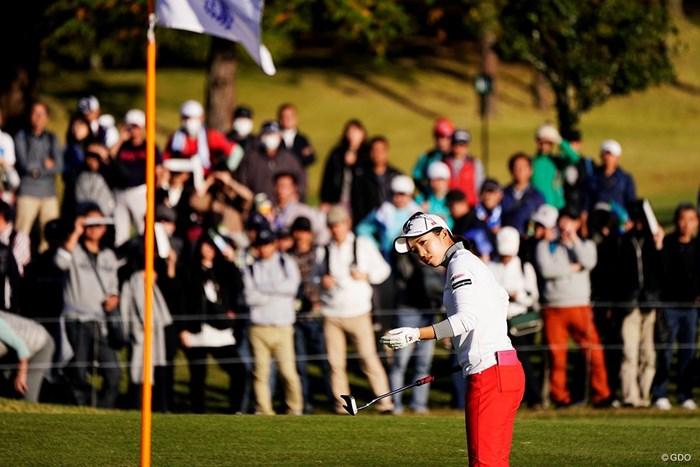 「66」でプレーした大江香織 2019年 伊藤園レディスゴルフトーナメント 2日目 大江香織