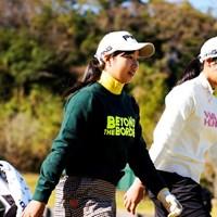 アマチュアの六車日那乃(左)と吉澤柚月は決勝へ進んだ 2019年 伊藤園レディスゴルフトーナメント 2日目 吉澤柚月 六車日那乃