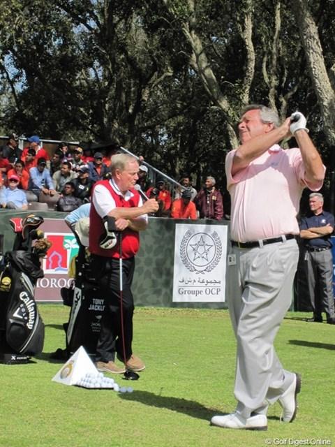 ジャック&トニー/ハッサン2世トロフィー ジャック・ニクラスとトニー・ジャクリンのコンビでゴルフクリニックは盛り上がりを見せた