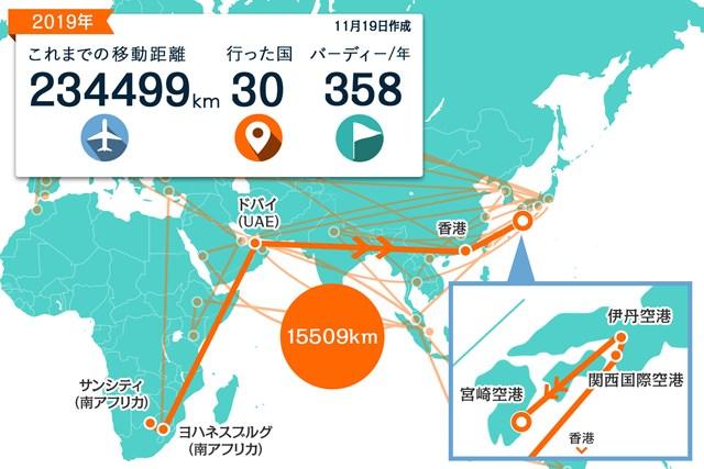 ドバイと香港を経由して帰国しました