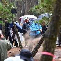 1番で松林につかまって「9」を叩いた松山英樹 2019年 ダンロップフェニックストーナメント 2日目 松山英樹