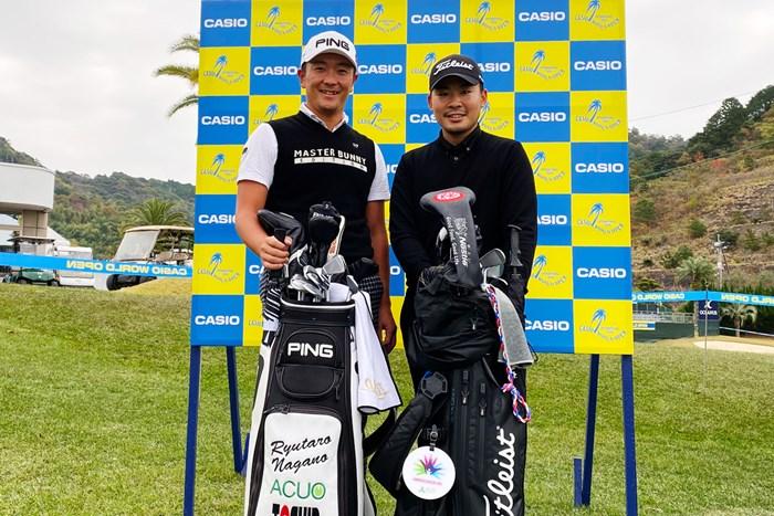 一年の最後は高知で。永野竜太郎選手と一緒に練習ラウンド 2019年 カシオワールドオープンゴルフトーナメント 事前 永野竜太郎 川村昌弘