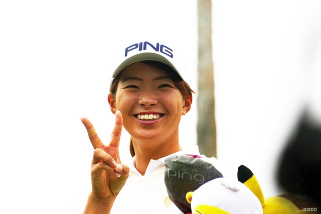 2019年 LPGAツアーチャンピオンシップリコーカップ 事前 渋野日向子 渋野日向子は「笑顔の戦い」を目標にした