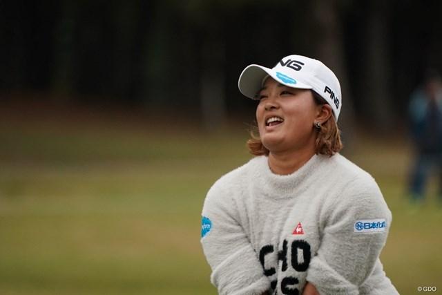 2019年 LPGAツアーチャンピオンシップリコーカップ 初日 鈴木愛 愛ちゃんらしい表情
