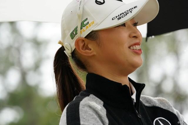 2019年 LPGAツアーチャンピオンシップリコーカップ 初日 柏原明日架 地元宮崎です、応援よろしゅう頼んます