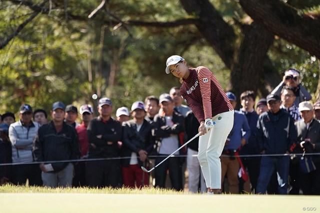 2019年 LPGAツアーチャンピオンシップリコーカップ 2日目 渋野日向子 首位に3打差の3位タイで大会を折り返した渋野日向子