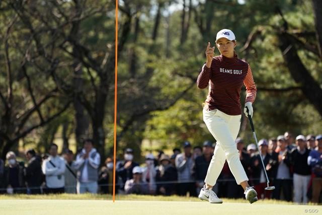 2019年 LPGAツアーチャンピオンシップリコーカップ 2日目 渋野日向子 首位と3打差の3位をキープした渋野日向子