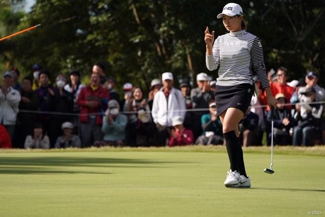 2019年 LPGAツアーチャンピオンシップリコーカップ 3日目 渋野日向子 最年少賞金女王を狙える位置で最終日を迎える渋野日向子