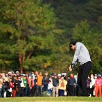 Hole8 par3  tee shot 2019年 カシオワールドオープンゴルフトーナメント 最終日 石川遼