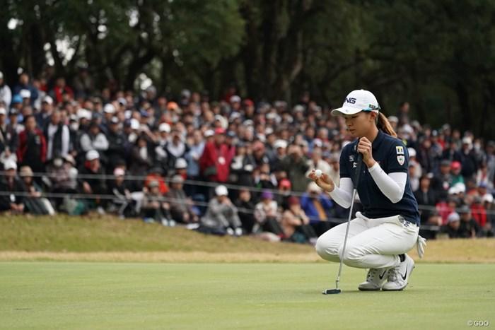 ボールに願いを込めて 2019年 LPGAツアーチャンピオンシップリコーカップ 最終日 渋野日向子