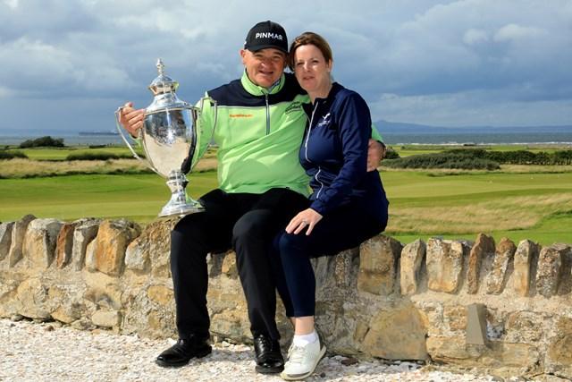 2020年 アフラシアバンク・モーリシャスオープン 事前 ポール・ローリー 1月にシニア入りしたポール・ローリー。8月「スコットランドシニアオープン」で初優勝を飾った(Phil Inglis/Getty Images)