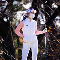 白とピンクのウエアで臨んだアン・シネ。32位で最終日に進む 2019年 ファイナルクォリファイングトーナメント 3日目 アン・シネ