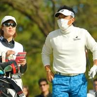 今週もマスク姿で悪そう。でも4位タイと好スタートです。 2019年 ゴルフ日本シリーズJTカップ 初日 宮本勝昌