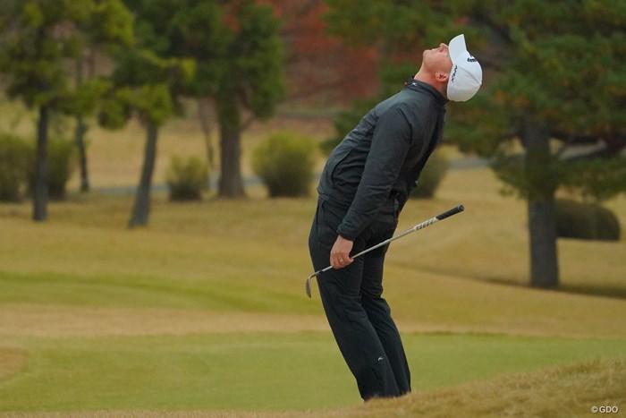 段々アクションが大きくなっていく。 2019年 ゴルフ日本シリーズJTカップ 3日目 ショーン・ノリス