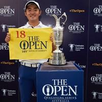 3位タイで終えた金谷拓実が2020年の「全英オープン」出場権を獲得した(Brett Hemmings/R&A/Getty Images) 2019年 エミレーツ・オーストラリアオープン 最終日 金谷拓実