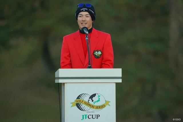 2019年 ゴルフ日本シリーズJTカップ  最終日 石川遼 石川遼はシーズン3勝目で一年を締めくくった