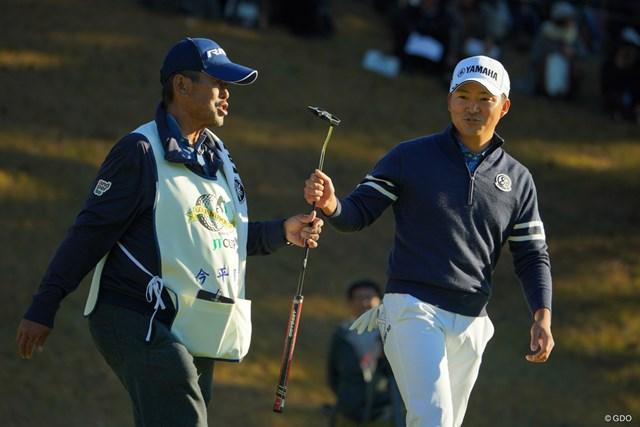 2019年 ゴルフ日本シリーズJTカップ  最終日 今平周吾 今平周吾はことしも柏木キャディと最終戦を戦った