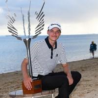 ラスムス・ホイガールトが初優勝(Ross Kinnaird/Getty Images) 2020年 アフラシアバンク・モーリシャスオープン 最終日 ラスムス・ホイガールト