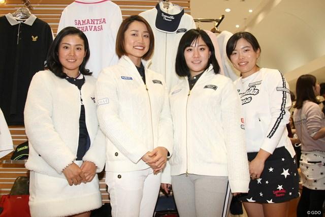 イベントに参加した原江里菜(左から2人目)。来季への考えを明かした