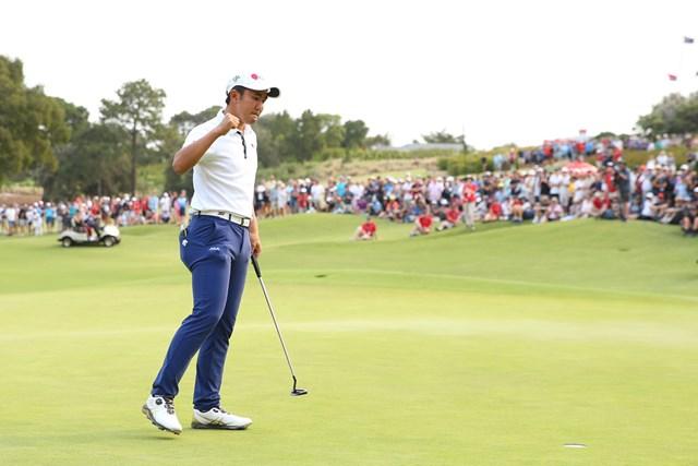 オーストラリアオープンで3位に入り、2020年の全英オープン出場を決めた金谷拓実(Jason McCawley/Getty Images)