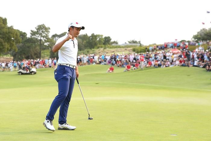 オーストラリアオープンで3位に入り、2020年の全英オープン出場を決めた金谷拓実(Jason McCawley/Getty Images) 2019年 エミレーツ・オーストラリアオープン 最終日 金谷拓実