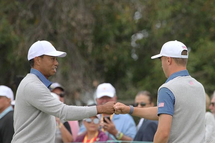タイガー・ウッズ&ジャスティン・トーマス組は米国選抜で唯一2連勝 2020年 プレジデンツカップ 2日目 タイガー・ウッズ&ジャスティン・トーマス