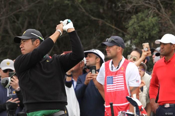 松山英樹はトニー・フィナウと引き分けて0.5ptを分け合った 2020年 プレジデンツカップ 最終日 松山英樹&トニー・フィナウ