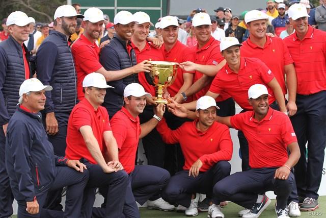 ウッズ率いる米国選抜が8大会連続の勝利を飾った
