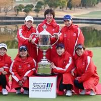 4年ぶりに優勝したLPGAチーム 2019年 Hitachi 3Tours Championship 最終日 LPGAチーム