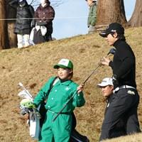 親交のある永井花奈がキャディを務めた 2019年 Hitachi 3Tours Championship  最終日 石川遼 永井花奈