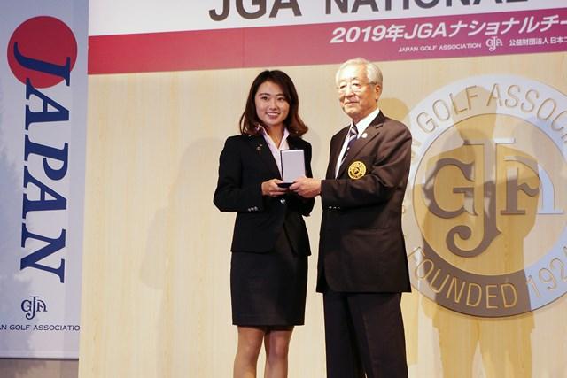 女子アマチュアを牽引した安田祐香はJGAから表彰された