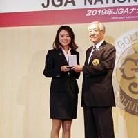 女子アマチュアを牽引した安田祐香はJGAから表彰された 安田祐香