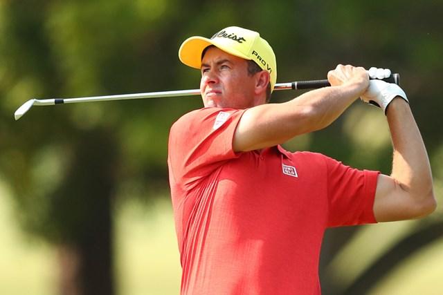 2020年 オーストラリアPGA選手権  2日目 アダム・スコット アダム・スコットは黄色いキャップをかぶった2日目に3位浮上(Chris Hyde/Getty Images)