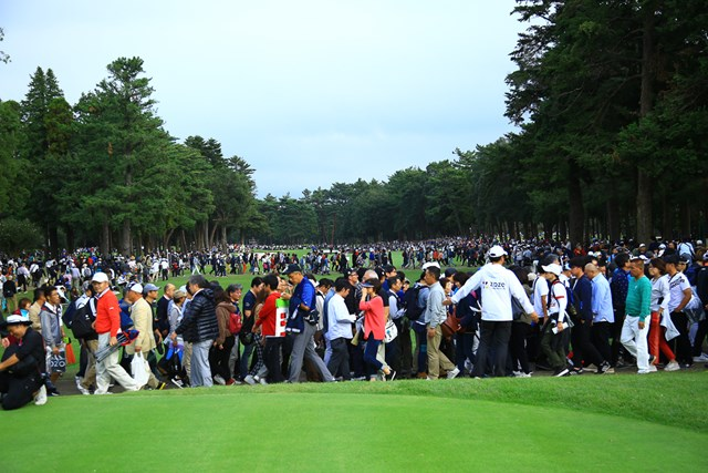 """大会はファンの""""男子ゴルフ""""への興味も決して薄れていないことも証明した(ZOZOチャンピオンシップ提供画像)"""