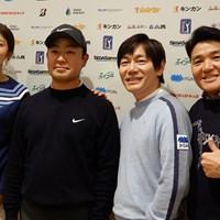 丸山茂樹(右)のジュニアイベントに参加した左から渡邉彩香、時松隆光、内藤雄士ツアープロコーチ 2019年 時松隆光