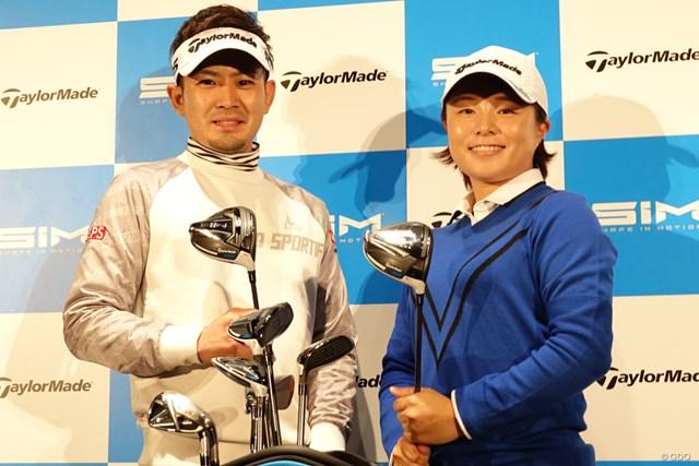 「来季はこの『SIM』で優勝したい」と語った塩見好輝と永峰咲希