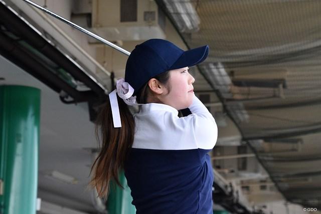 大阪・堺市内の練習場で調整する澤田知佳