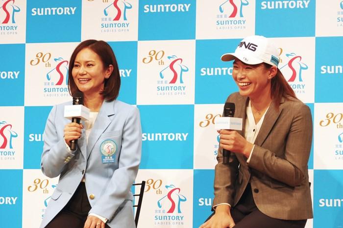 宮里藍さんは渋野日向子にとってロールモデルになる 2020年 宮里藍サントリーレディスオープンゴルフトーナメント 事前 宮里藍さん 渋野日向子